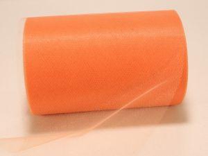 Фатин, средняя жесткость, ширина 15 см, бобина 100 ярдов, цвет: C48 персиковый