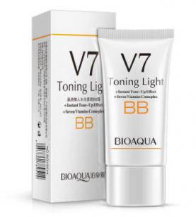 Тонизирующий ВВ крем «BIOAQUA» V7 Toning Light.(9514)