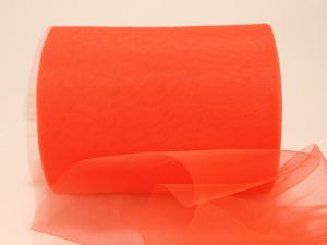`Фатин мягкий, ширина 15 см, цвет: R13 кислотно-оранжевый
