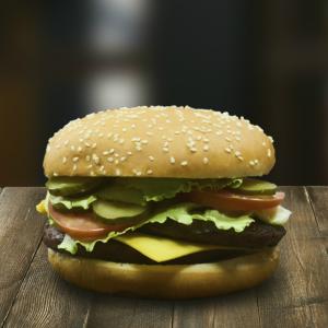 Двойной острый бургер 360г