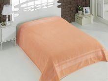 """Простыня махровая """"KARNA"""" REBEKA 200x220 см (абрикосовая)  Арт.2655-1"""