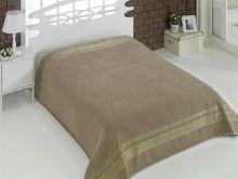 """Простыня махровая """"KARNA"""" REBEKA 200x220 см (кофейная) Арт.2655-6"""