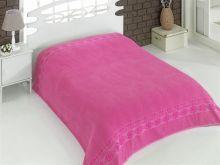 "Простыня махровая ""KARNA"" REBEKA 200x220 см (розовая) Арт.2655-10"