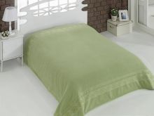 "Простыня махровая ""KARNA"" REBEKA 200x220 см (зеленая) Арт.2655-15"