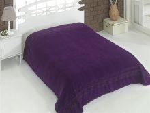 """Простыня махровая """"KARNA"""" REBEKA 200x220 см (фиолетовая) Арт.2655-16"""