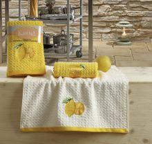 "Кухонные полотенца ""KARNA"" LEMON 45x65 - 2 шт. Арт.2231-1"
