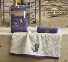 Кухонные полотенца LEMON (45*65)*2  Арт.2233-1