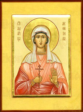 Леонилла (Неонилла) Лангонийская (рукописная икона)