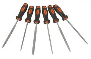 Набор прецизионных напильников с ручкой 6шт. TRUPER LIJO-6X 15240