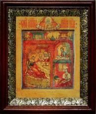 Рождество Пресвятой Богородицы (19х22), темный киот