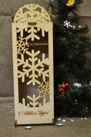 """Подарочная упаковка для вина  """"Снежинка"""" (22-000)"""