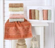 "Комплект кухонных полотенец  бамбук ""KARNA"" PANDORA 30*50 - 6 шт. Арт.2200-2"