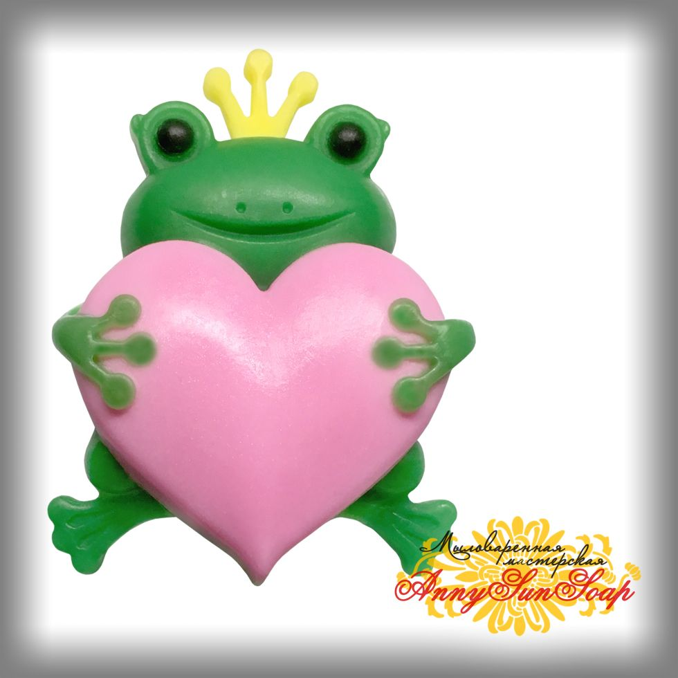 "Мыло ""Лягушка-царевна"" с сердцем"