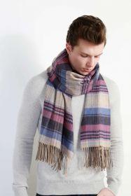 Роскошный классический шотландский супербольшой шарф, высокая плотность, 100 % драгоценный кашемир , расцветка Roseisle (премиум)