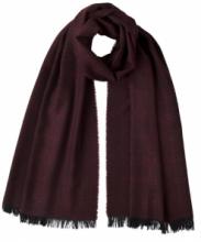 шотландский тонкий широкий легкий шарф с графическим узором Арт-деко, 100% шерсть мериноса  Tonal Deco Port Деко Портвейн плотность 3