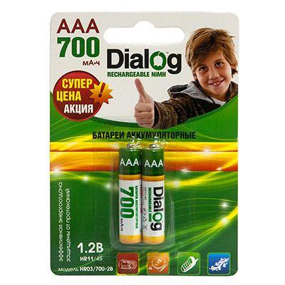 Аккумулятор Dialog NiMH AAA 700 мА*ч, 2шт. в блистере HR03/700-2B