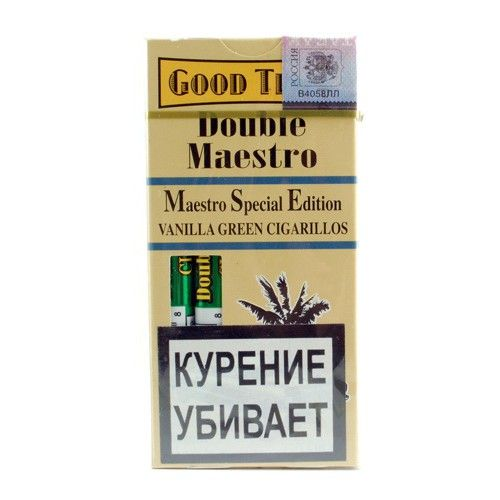 Сигариллы Good Times Dauble maestro Vanilla green