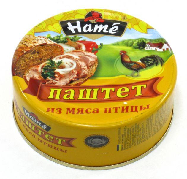 """Паштет """"Хаме"""" из мяса птицы 250г"""