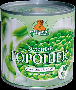 """Горошек зеленый """"Медведь любимый"""" ключ ж/б 212мл"""