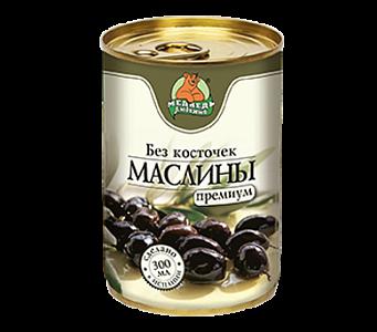 """Маслины без косточки """"Медведь любимый"""" ж/б 300мл"""