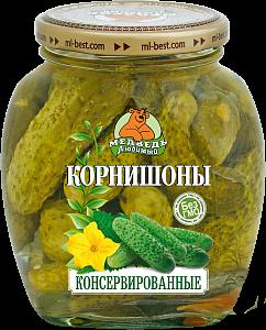 """Огурцы корнишоны премиум """"Медведь любимый"""" ст/б 500мл"""
