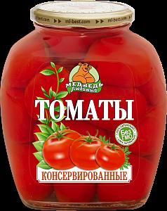 """Томаты консервированные премиум """"Медведь любимый"""" ст/б 1500м"""