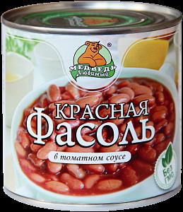 """Фасоль красная в томатном соусе """"Медведь любимый"""" ж/б 425мл"""