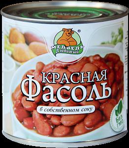 """Фасоль красная в собственном соку """"Медведь любимый"""" ж/б 425мл"""