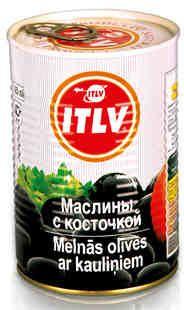 Маслины черные с/к 425мл