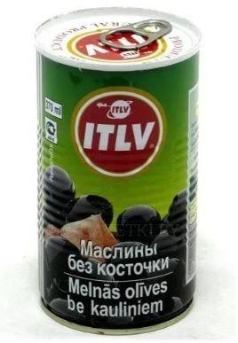 Маслины черные б/к 425мл