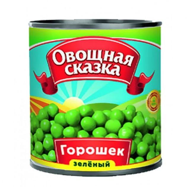 Горошек зеленый Овощная Сказка ГОСТ 310г