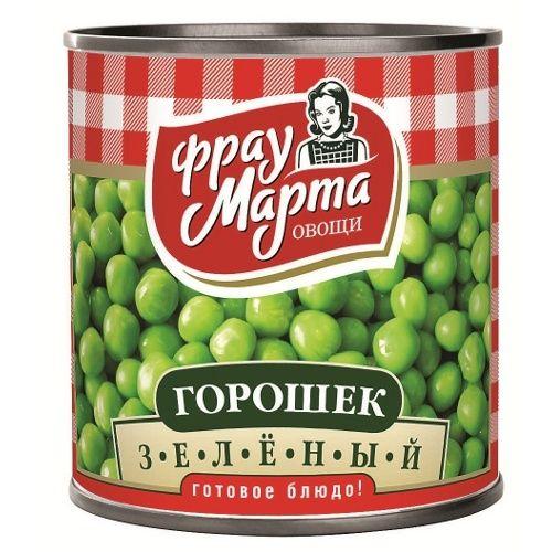 Горошек зеленый Фрау Марта ГОСТ 310г