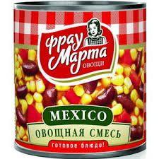 Овощная смесь в т/с Мексико Фрау Марта 310г