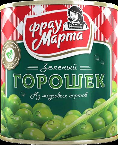 Горошек зеленый Фрау Марта 310г2+Фасоль Лобио 310гр