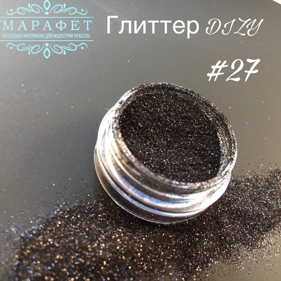Глиттер DIZY ПЫЛЬ №27 в банке 2,5гр