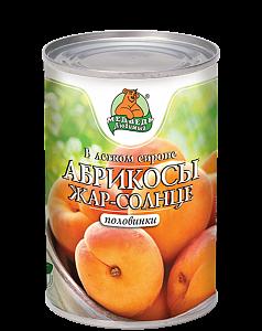 """Абрикосы Жар-солнце """"Медведь любимый"""" ж/б 425мл"""
