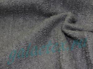 """Шерсть пальтовая """"Букле"""" серый"""