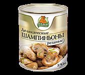 """Шампиньоны резаные """"Медведь любимый"""" ж/б 850мл"""