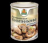 """Шампиньоны резаные """"Медведь любимый"""" ж/б 3100м"""