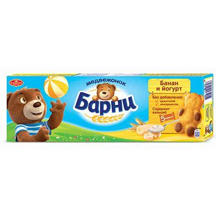Медвежонок Барни пирожное бисквитное банан-йогурт  150г