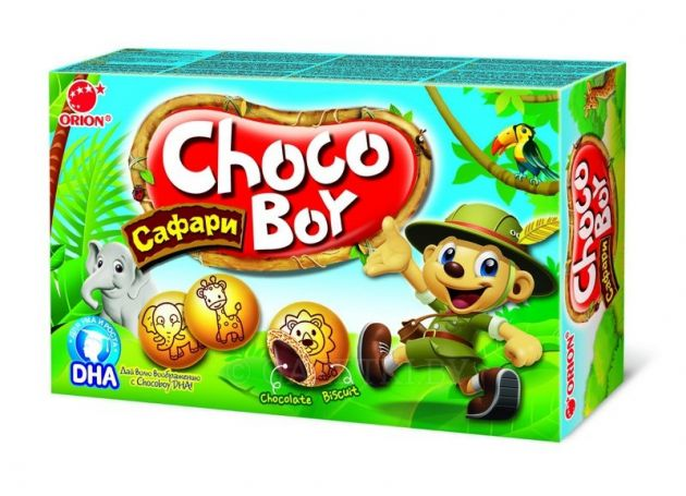 Печенье Орион Чокобой Сафари 42г