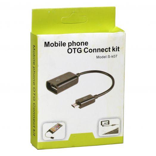 Переходник OTG USB OL-1016 (штекер micro USB-гнездо USB)