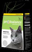 ProBalance Sensitive Корм сухой для взрослых кошек с чувствительным пищеварением, с курицей и рисом (1,8 кг)