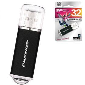 Флэш-диск 32 GB, SILICON POWER ultima II-I Series, USB 2.0, черный  511404