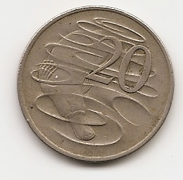 Утконос (Регулярный выпуск) 20 центов Австралия 1970