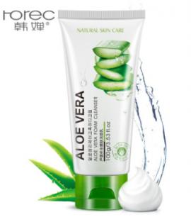 Пенка для умывания с экстрактом Алоэ Вера  «BIOAQUA» Rorec Aloe Vera Foam Cleanser.(7893)