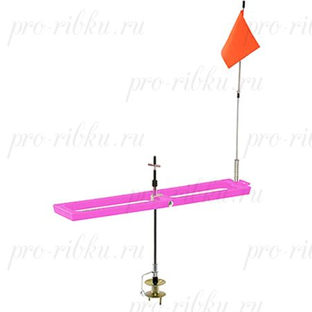 Жерлица Frabill Arctic Fire Rail Pink Tip-Up прямоугольная, складная, розовая