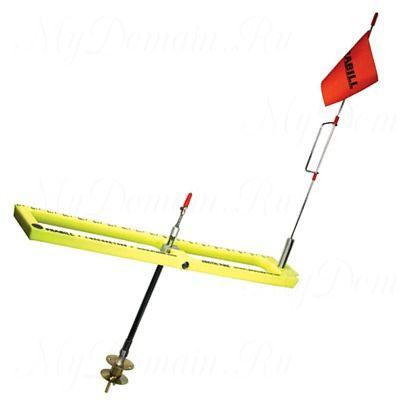 Жерлица Frabill Arctic Fire Real Tip-Up Basic желтая, прямоугольная, складная, неоснащенная #1667
