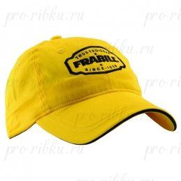 Бейсболка Frabill Baseball Cap with badge, желтая
