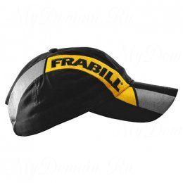 Бейсболка Frabill Baseball Cap with stripe, черная с желтой полосой
